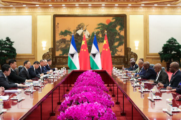 Xi Jinping Prime Minister Of Lesotho Visits China