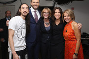 Steve Aoki, Joel McHale, Lisa Licht, Lisa Utzschneider and Katie Couric attend the 2015 Yahoo Digital Content NewFronts at Avery Fisher Hall on April 27, 2015 in New York City.