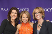 (L-R) SVP, Americas Sales at Yahoo Lisa Utzschneider, Journalist Katie Couric and SVP, Marketing Partnerships at Yahoo Lisa Licht attend the 2015 Yahoo Digital Content NewFronts at Avery Fisher Hall on April 27, 2015 in New York City.