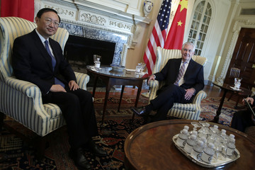Yang Jiechi US Secretary of State Rex Tillerson Meets With Chinese State Councilor Yang Jiechi