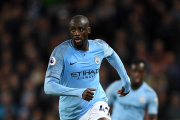 Yaya Toure Manchester City Vs. Brighton and Hove Albion - Premier League
