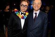 """Restaurateur Michael Chow (L) and MOCA Director Jeffrey Deitch attend """"Yesssss!"""" MOCA Gala 2013, Celebrating the Opening of the Exhibition Urs Fischer, at MOCA Grand Avenue and The Geffen Contemporary on April 20, 2013 in Los Angeles, California."""