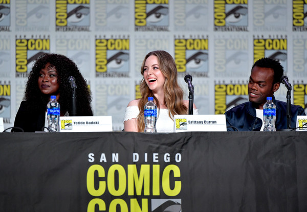 2019 Comic-Con International - TV Guide Magazine Fan Favorites 2019 [tv guide magazine fan favorites,tv guide magazine fan favorites 2019,yellow,event,comics,news conference,fiction,convention,world,stage equipment,media,publication,yetide badaki,adrian lester,brittany curran,san diego convention center,california,comic-con international]