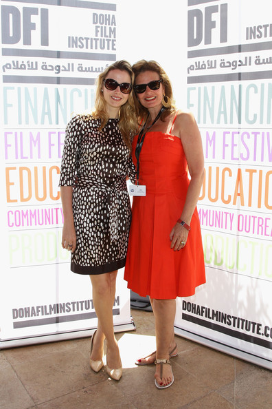 DFI Egyptian Filmmakers Lunch - 64th Annual Cannes Film Festival [eyewear,clothing,red,fashion,dress,beauty,footwear,magazine,cocktail dress,event,filmmakers,yosra,amanda palmer,egyptian,cannes,france,dfi,l,cannes film festival,filmmakers lunch]
