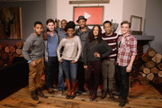 Actors Brandon P Bell, Justin Dobies, Malcolm Barrett, Teyonah Parris, director Justin Simien, Tessa Thompson, Tyler James Williams and Kyle Gallner attends the YouTube 'Dear White People' Reception  on January 20, 2014 in Park City, Utah.