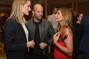 "Rosie Huntington-Whiteley, Jason Statham and author Dr. Nigma Talib attend the ""Younger Skin Starts In The Gut"" book launch party at Four Seasons Hotel Los Angeles at Beverly Hills on March 22, 2016 in Los Angeles, California."