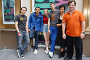 (L-R) Kieran Culkin, Rostam Batmanglij, Tavi Gevinson, Michael Cera, Anna D. Shapiro and Kenneth Lonergan attend the 'This Is Our Youth' Cast Photo Call at Cort Theatre on August 14, 2014 in New York City.