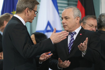 Yuval Steinitz Netanyahu Visits Berlin For German-Israeli Government Consultations