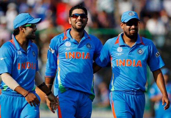 Indian Cricket Team Batsman Yuvraj Singh: India V Netherlands: Group B