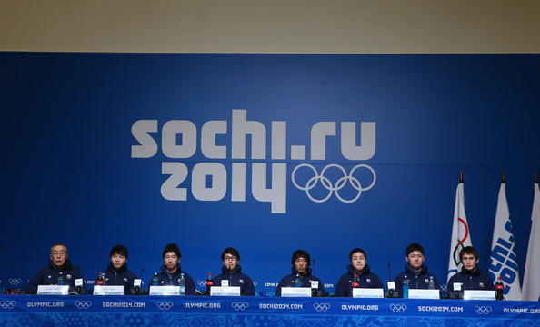 Japanese Speed Skating Team Press Conference