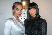 (L-R) Jasmine Sanders and singer Dua Lipa attend the Yves Saint Laurent Beauty and Dua Lipa celebrating the launch of the new fragrance 'Libre' at Castel Club on September 25, 2019 in Paris, France.