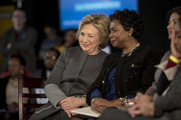 Yvette Clarke Hillary Clinton Hosts Women for Hillary Town Hall Meeting in Brooklyn, New York