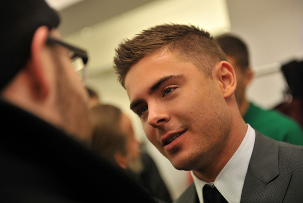 Zac Efron - Calvin Klein Men's Collection - Backstage - Fall 2011 Mercedes-Benz Fashion Week