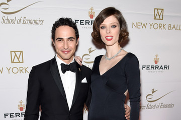 Zac Posen Coco Rocha Arrivals at the New York Ball Cocktail Benefit