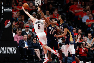 Zach Collins New Orleans Pelicans vs. Portland Trail Blazers - Game Two