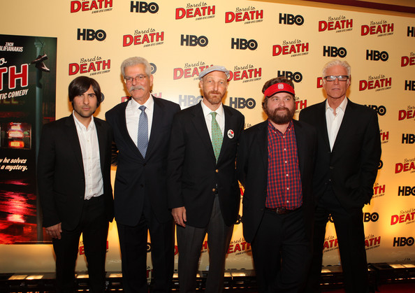 Ted Danson Jason Schwartzman Zach Galifianakis Bill Nelson Jonathan Ames Zach Galifianakis And Jonathan Ames Photos Hbo S Bored To Death Premiere Zimbio