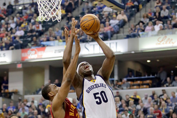 Zach Randolph Memphis Grizzlies v Indiana Pacers