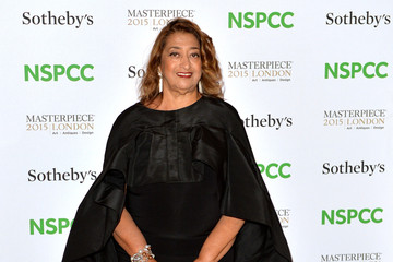 Zaha Hadid Celebrities Arrive at the NSPCC Neo-Romantic Art Gala