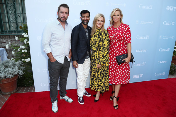Reception Celebrating The Canadian Nominees Of The 71st Primetime Emmy Awards [nominees,consul general,samantha bee,allana harkin,zaib shaikh,red carpet,carpet,event,fashion,flooring,premiere,reception,primetime emmy awards,canadian,los angeles,california]