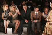 Alex McCord (L), Ramona Singer (2nd L), Tom Murrow (C) and LuAnn De Lesseps (R) attend the Zang Toi Fall 2013 fashion show during Mercedes-Benz Fashion Week at The Stage at Lincoln Center on February 13, 2013 in New York City.