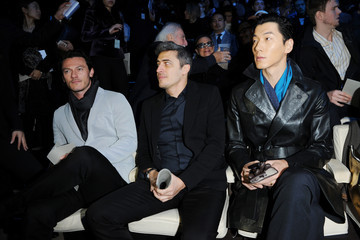 Zhang Liang Front Row at the Emporio Armani Runway Show