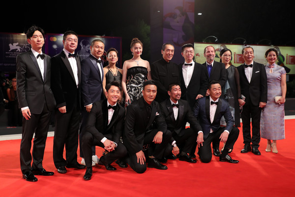 'Ying (Shadow)' And 2018 Jaeger-LeCoultre Glory To The Filmaker Award to Zhang Yimou Red Carpet Arrivals - 75th Venice Film Festival [red carpet,event,carpet,premiere,social group,suit,team,formal wear,flooring,tuxedo,cast crew,sala grande,glory to the filmaker award,ying shadow,red carpet,venice,italy,jaeger-lecoultre,zhang yimou red carpet arrivals,venice film festival]