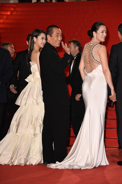 'Coming Home' Premieres at Cannes [gown,red carpet,dress,carpet,clothing,formal wear,fashion,event,flooring,haute couture,zhang yimou,gui lai,gong li,coming home premieres,cannes,france,premiere,cannes film festival]