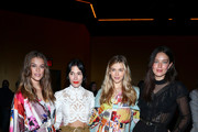 Nina Agdal, Athena Calderone, Victoria Lee and Emily DiDonato attend the Zimmermann fashion show during February 2020 - New York Fashion Week: The Shows at SIR Stage37 on February 10, 2020 in New York City.