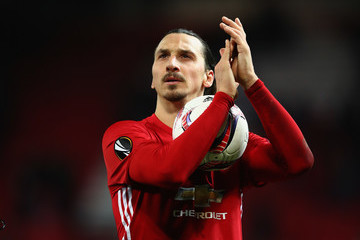 Zlatan Ibrahimovic Manchester United v AS Saint-Etienne - UEFA Europa League Round of 32: First Leg