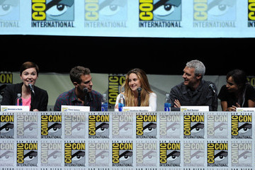 Zoe Kravitz Shailene Woodley Comic-Con Panels for 'Ender's Game' and 'Divergent'