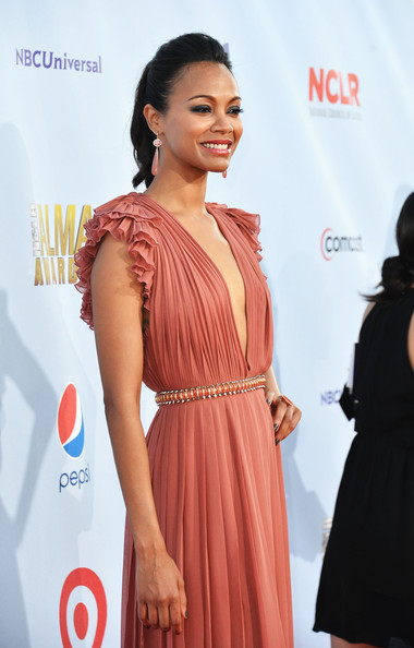 Zoe Saldana - 2012 NCLR ALMA Awards - Red Carpet