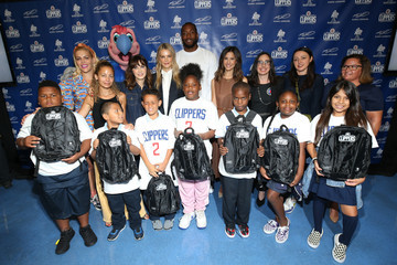 Zooey Deschanel Baby2Baby And Ambassadors Celebrate Donation Of One Million Backpacks From Baby2Baby, Kawhi Leonard And The LA Clippers To Students In Los Angeles