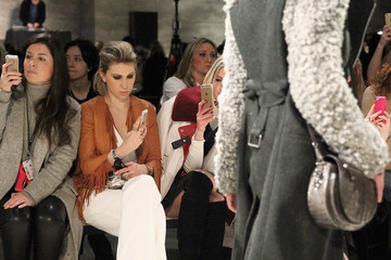 Zosia Mamet TRESemme at Rebecca Minkoff Mercedes-Benz Fashion Week Fall 2015 - Backstage/Front Row