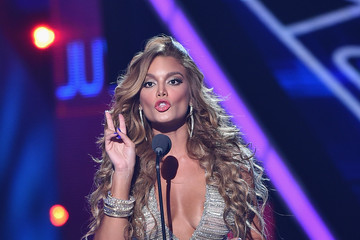 Zuleyka Rivera Celebrities Attend Univision's Premios Juventud 2015