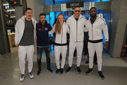 Sacha Kljestan, David Villa, Becky Sauerbrunn, Carlos Correa and DeMarco Murray  attend the opening of the adidas Flagship New York City location on December 1, 2016 in New York City.