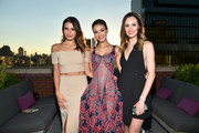 Madison Graace Reed, Victoria Justice and Madison Guest attend the amfAR generationCURE Solstice 2017 at Mr. Purple on June 20, 2017 in New York City.