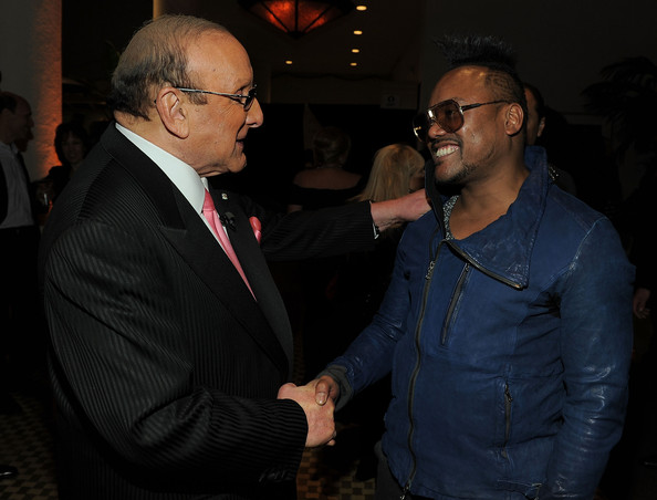 apl.de.ap (EXCLUSIVE COVERAGE) Producer Clive Davis and apl.de.ap of Black Eyed Peas arrive at the 2011 Pre-GRAMMY Gala and Salute To Industry Icons Honoring David Geffen at Beverly Hilton on February 12, 2011 in Beverly Hills, California.