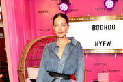 Emily DiDonato attends the boohoo NYFW celebration at the boohoo Mansion on September 11, 2019 in New York City.