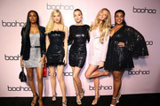 Jasmine Tookes, Elsa Hosk, Josephine Skriver, Romee Strijd, and Yvonne Simone attend boohoo x All That Glitters Launch Party on November 07, 2019 in Los Angeles, California.