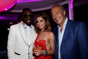 (L-R) Will I am, Cheryl Cole and Fawaz Gruosi attend the de Grisogono Party at the Hotel Du Cap on May 18, 2010 in Cap D'Antibes, France.