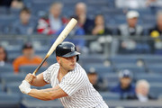 NEW YORK, NY - May 11:  Matt Holliday #17 of the New York Yankees bats during an MLB game against the Houston Astros on May 11, 2017 at Yankee Stadium in the Bronx borough of New York City. Astros won 3-2.