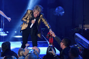Rod Stewart performs onstage at iHeartRadio LIVE at iHeartRadio Theater on November 27, 2018 in Burbank, California.