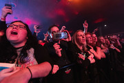 Fans cheer during iHeartRadio LIVE and Verizon bring you Fall Out Boy in Seattle at The Showbox on November 11, 2019 in Seattle, Washington.