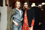Carolyn Murphy and Sylvana Durrett attend rag & bone's A Last Supper in celebration of its Fall 2019 collection on February 8, 2019 in New York City.