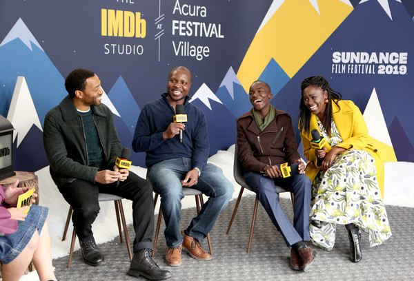 The IMDb Studio At Acura Festival Village On Location At The 2019 Sundance Film Festival – Day 1 [the boy who harnessed the wind,yellow,event,youth,community,adaptation,team,performance,brand,tourism,ma\u00e3 \u0304ga,william kamkwama,maxwell simba,chiwetel ejiofor,l-r,imdb studio at acura festival village on location,a\u00e3 \u0304,the imdb studio,sundance film festival]