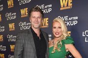"Slade Smiley (L) and Gretchen Rossi attend WE tv celebrates the return of ""Love After Lockup"" with panel, ""Real Love: Relationship Reality TV's Past, Present & Future,"" at The Paley Center for Media on December 11, 2018 in Beverly Hills, California."