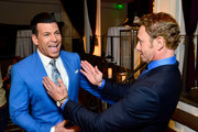 Celebrity wedding planner David Tutera (L) and actor Ian Ziering attend an event, hosted by WE tv and Ian Ziering, to raise awareness for Canine Companions for Independence at Boulevard 3 on May 7, 2015 in Los Angeles, California.
