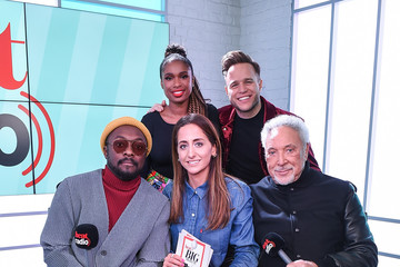 will.i.am Olly Murs The Voice UK Judges Visit Heat Breakfast