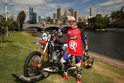 Australian FMX rider Robbie Maddison poses after riding his motorbike along the surface of the Yarra River on December 22, 2016 in Melbourne, Australia. The xXxTreme Yarra River Ride is inspired by a major stunt from the film xXx: Return of Xander Cage which Robbie was the lead stunt rider. xXx: Return of Xander Cage will be in Australian cinemas from January 19, 2017.