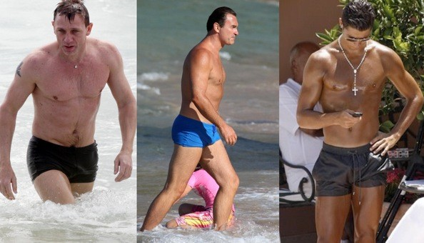 men in revealing swimsuits